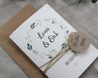 Wedding invitation incl. answer card