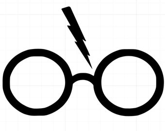 Harry Potter glasses decal