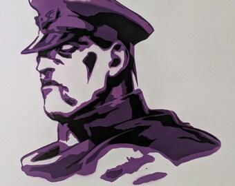 M. Bison Street Fighter Spraypaint Stencil by Doudkine