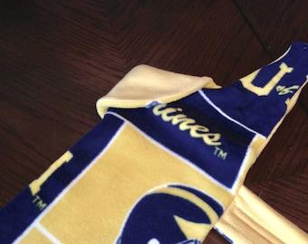 University of Michigan Medium Blue and Gold Fleece Dog Coat