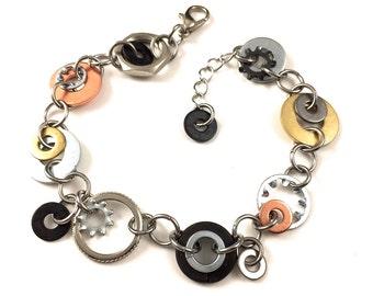 Chain Bracelet Mixed Metal Hardware Jewelry Charm bracelet