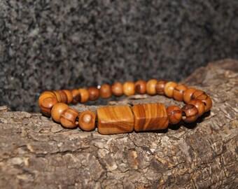 Olive wood braclet, Meditation braclet, magnet