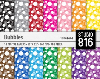 Bubbles - Digital Paper for Scrapbooking, Cardmaking, Papercrafts, Gift Wrap #11041444