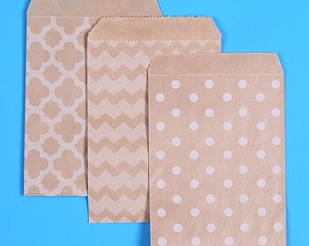 Small Brown Favor Bags, Valentines Day Goodie Bags, Small Sweet Bags, Wedding Favor Bags, Sweet Bags, Candy Buffet Bags, Small Gift Bags