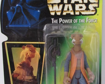 1997 Kenner Star Wars Power Of The Force Saelt-Marae Yak Face Action Figure New In Package