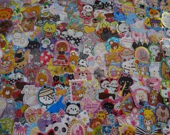 Japan Kawaii  Sticker Flakes Assorted Mix 50pcs/mind wave,Q-lia,kamio etc