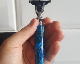 Blue Acrylic Razor (Mach 3 Fit)