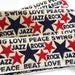 Groovy sewing trim, love, jazz, rock, peace ribbon, Jacquard trim with stars