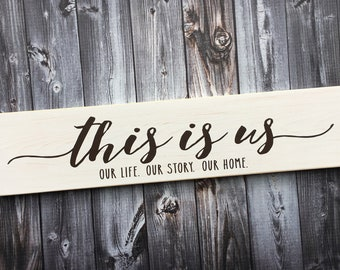 this is us our life our story our home | this is us | sign | home decor | wall gallery sign | this is us sign | home sign | Style #HM237