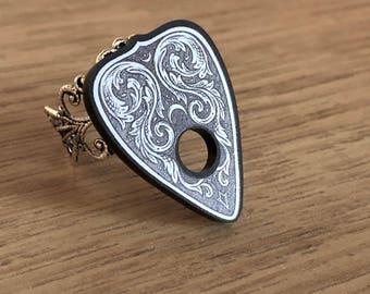 Filigree Ouija Planchette Ring