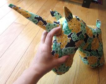 Sewing Pattern 4-Pack Animal Head Sewing Pattern PDF Unicorn/Moose/Rhino/Elephant