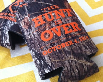 The Hunt is Over Camo Wedding can coolers Mossy oak camo