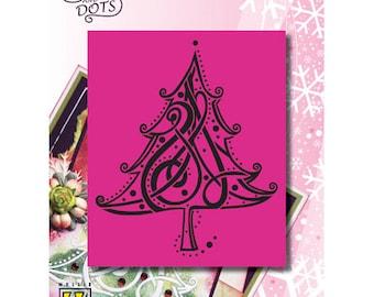 Nellie Christmas tree pattern 9 5x11cm_LD003