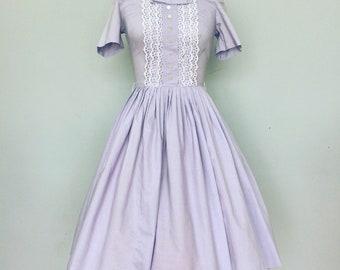1950s Purple Spring Dress