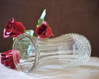 Flower Vase/Hoosier Glass Vase/Home Decor Vase/Gift for Her/Glass Flower Vase/Table Decor/4088 A/80s