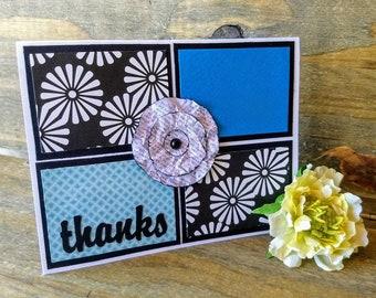 Thanks | Handmade Flower | Thank You Card