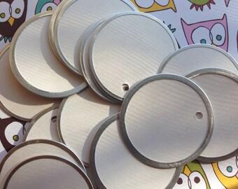 Blank White Metal Rim 1.5 Inch Tags 20pcs