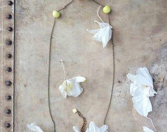 Vintage bead necklace, Geometric necklace, Simple bead, Vintage glass bead, Charm necklace, Playful necklace, Cute necklace, Cute jewelry