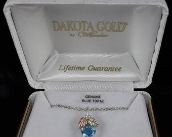 Dakota Gold Blue Topaz Necklace