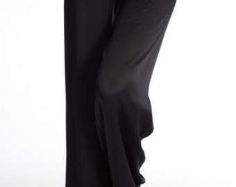 Zene Silk Pant - Black