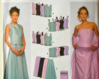 Uncut 2000 Simplicity Sewing Pattern 9466; Size 14-16-18-20; Misses' Tops, Skirts and Wrap