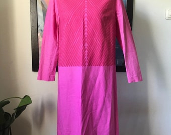 Vintage Marimekko Dress / Size 42 but fits Small - Medium best / Finland 1960s original pink