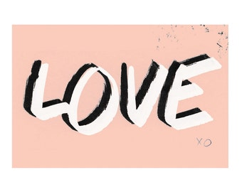 4 x 6 // Love // Art Print // Notecard // for her // for him