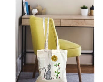 Cat tote bag, cat tote, cat bag, canvas tote bag, canvas bag, cat canvas bag, tote bag canvas, canvas tote, cat gift bag, cat lover gift bag