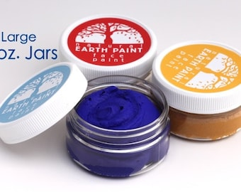 Natural Face Paint - Large 2 oz. Jars (*FREE upgrade on shipping this week (10/23-10/27). Get your order within 2-3 days via PRIORITY MAIL)