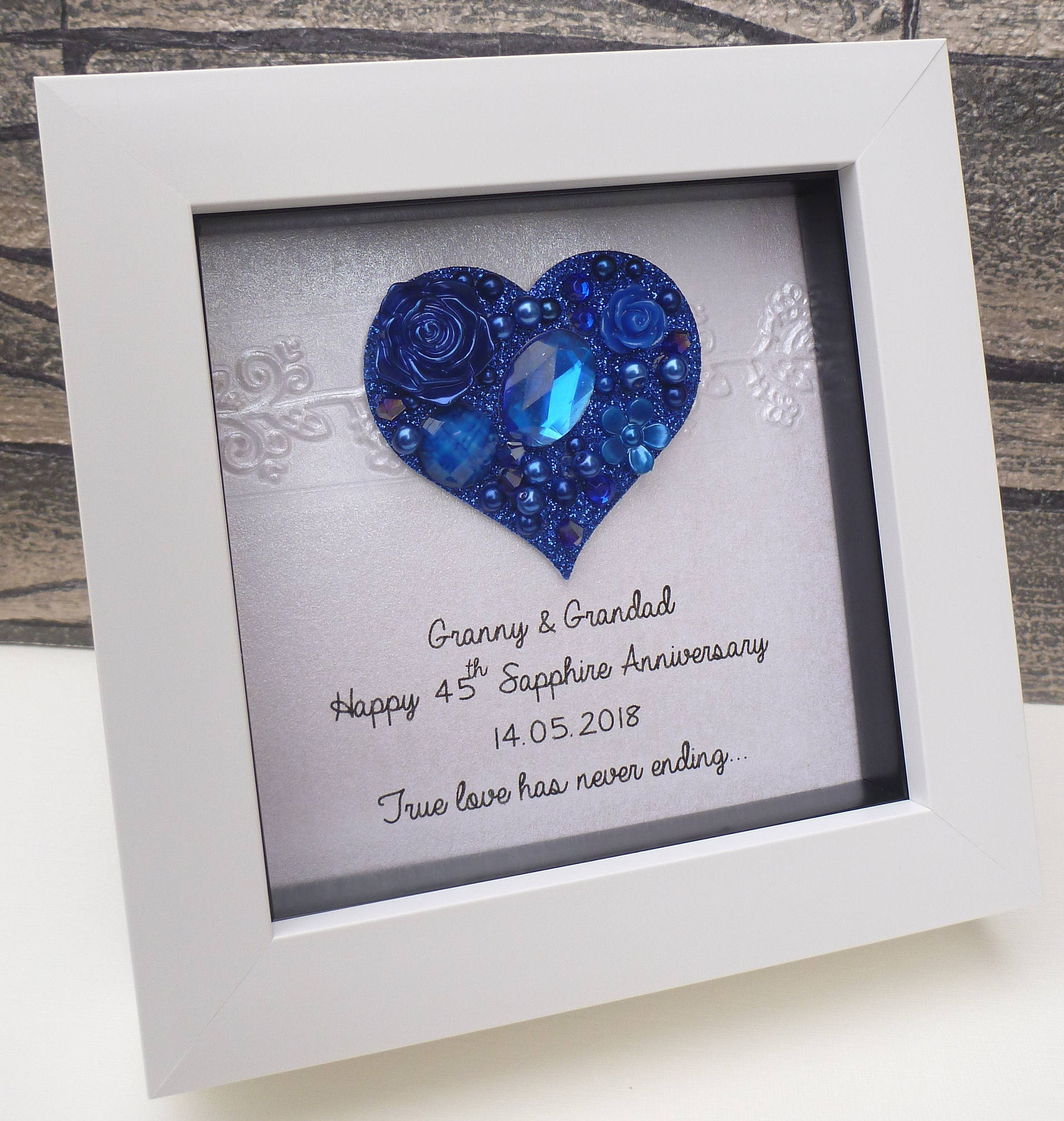 Australian Wedding Anniversary Gifts By Year: 45th Wedding Anniversary Gift 45th Anniversary Gift Sapphire