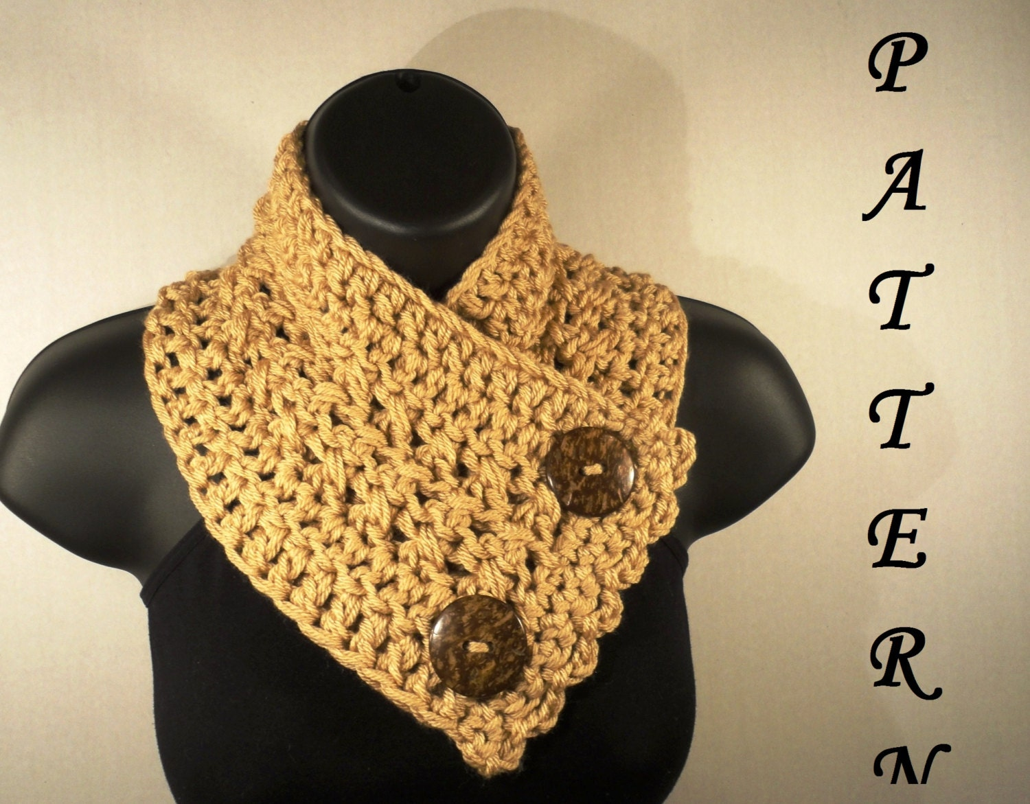 Crochet pattern crochet scarf pattern neckwarmer button zoom bankloansurffo Choice Image