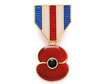 Remembrance Day 2016 Pendant Poppy Brooch
