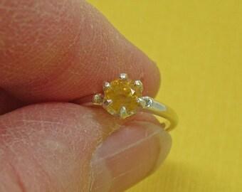 Grossular Garnet Ring - Grossular Garnet & Sterling Silver Ring - Size 4 3/4 Woman's Ring
