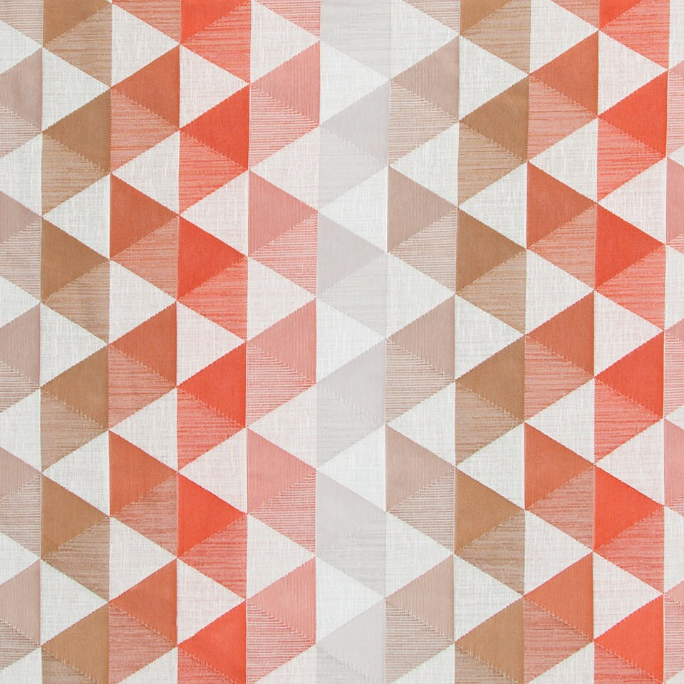 Modern Coral Geometric Upholstery Fabric For Furniture Grey