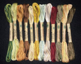 12 Valdani 6 Strand Floss Embroidery Thread Country Light Set 2 10 Yd Skeins