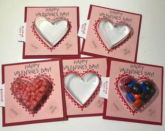 5 3x3 Valentines Sweet Treat Cup Cards