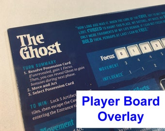 Vast: The Crystal Caverns Player Board Overlay -GHOST