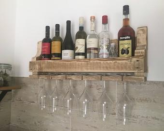 Bottle holder with Glass shelf