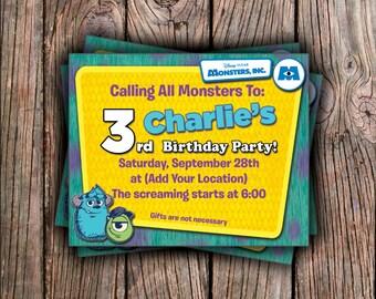 Monsters Inc. Birthday Invitation