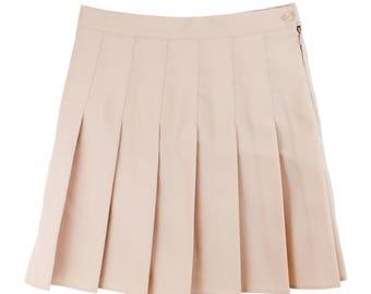tennis skirt beige pleated skirt american apparel grunge tumblr