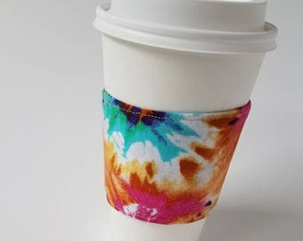 Tie Dye Reusable Coffee Sleeve