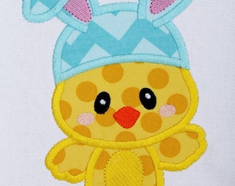 Easter Bunny Chick Machine Embroidery Design