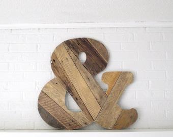 Wood Wall Art Giant Ampersand
