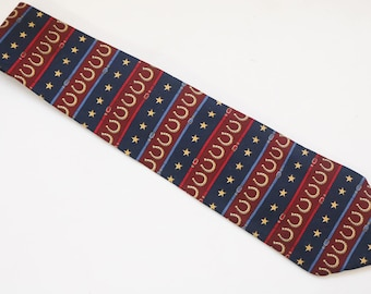 "Rare 90's Vintage ""TOMMY HILFIGER"" Silk Abstract Patterned Designer Necktie"