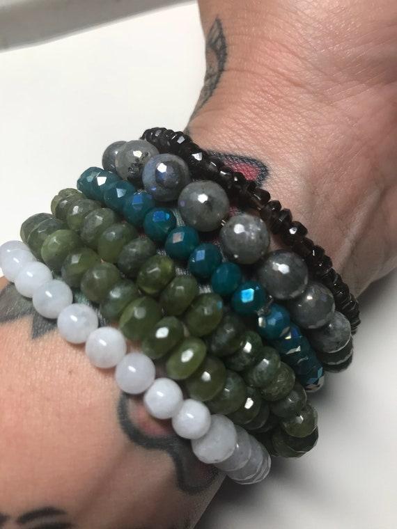 Tiny Smoky Quartz Stretch Bracelet