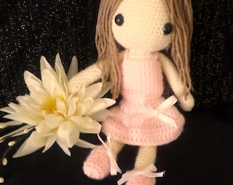 Crochet Doll PDF Pattern. US Terminology Amigurumi.