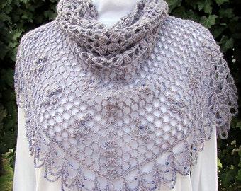 Pattern only -Lady Viola Shawl pattern crochet pattern lace shawlette triangle scarf