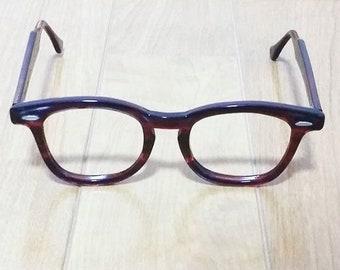 B&L Bausch and Lomb Vintage Eyeglass Frames 1950's / 60's Johnny Depp