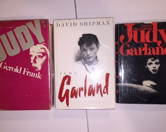 three vintage JUDY GARLAND books - Judy by Gerold Frank, Judy Garland by David Shipman, Judy Garland by Anne Edwards