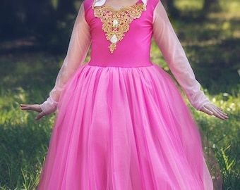 Princess Dress, Sleeping Beauty Princess Aurora Costume, Aurora Dress Birthday Princess, Fairytale Costume